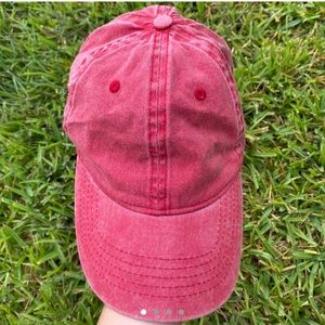 Cute red baseball cap!